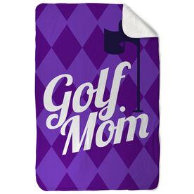 Golf Sherpa Fleece Blanket Golf Mom