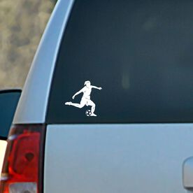 Vinyl Car Decal Soccer Player Girl Silhouette