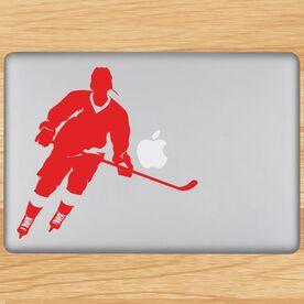Hockey Player Rink Turn Removable ChalkTalkGraphix Laptop Decal