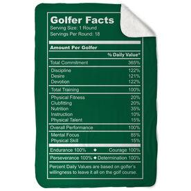 Golf Sherpa Fleece Blanket Golfer Facts