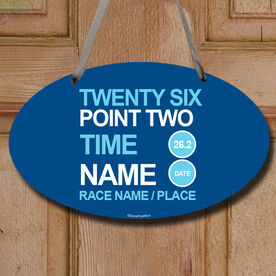 Personalized Twenty Six Point Two Decorative Oval Sign