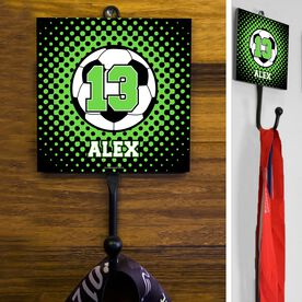 Soccer Hook Personalized Soccer Ball with Dots Background