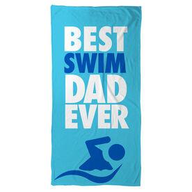 Swimming Beach Towel Best Dad Ever