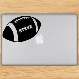 Personalized Football Removable ChalkTalkGraphix Laptop Decal