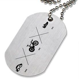 Swim X Bike X Run Printed Dog Tag Necklace