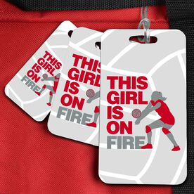 Volleyball Bag/Luggage Tag This Girl Is On Fire