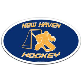 Hockey Oval Car Magnet Personalized Goalie