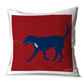 Hockey Throw Pillow Howe The Hockey Dog