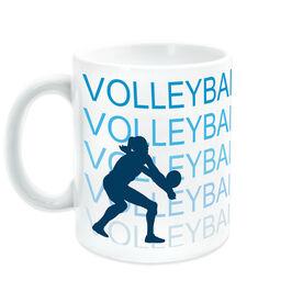 Volleyball Ceramic Mug Fade