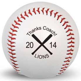 Custom Baseball Thanks Coach