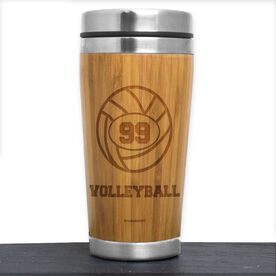 Bamboo Travel Tumbler Volleyball Ball with Personalized Number
