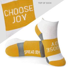 Socrates™ Woven Performance Sock Choose Joy (Yellow)