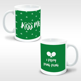 Ping Pong Ceramic Mug Kiss Me I Play