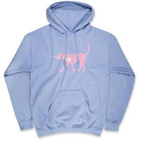 Girls Lacrosse Hooded Sweatshirt LuLa the Lax Dog(Pink)