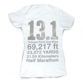 Vintage Running Fitted T-Shirt - 13.1 Math Miles