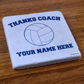 Thanks Coach Volleyball - Stone Coaster