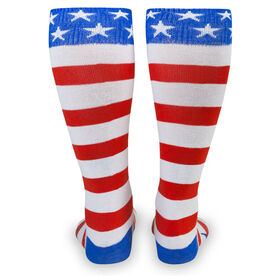 Woven Yakety Yak! Knee High Socks - USA Stripes