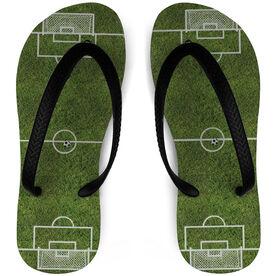 Soccer Flip Flops Field