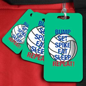 Volleyball Bag/Luggage Tag Bump Set Spike Eat Sleep Repeat