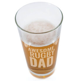 20 oz. Beer Pint Glass Awesome Rugby Dad