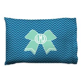 Cheerleading Pillowcase - Monogrammed Cheer Bow