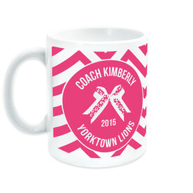 Cheerleading Ceramic Mug Personalized Thanks Coach with Bow
