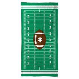 Football Beach Towel Personalized Field