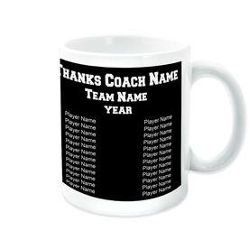 Basketball Ceramic Mug Thanks Coach Custom Photo With Team Roster