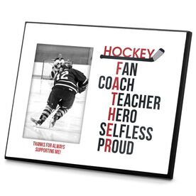 Hockey Photo Frame Hockey Father Words