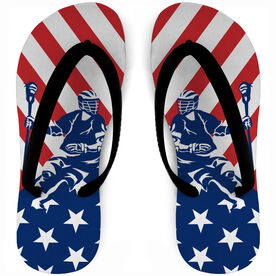 Guys Lacrosse Flip Flops USA Player