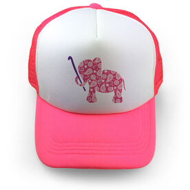 Field Hockey Trucker Hat - Elephant