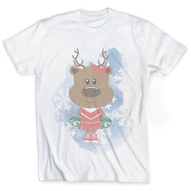 Vintage Cheerleading T-Shirt - Reindeer Cheer