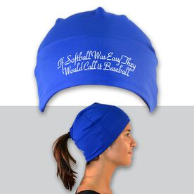 Performance Ponytail Cuff Hat If Softball Was Easy They Would Call It Baseball