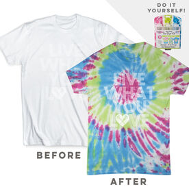 DIY Girls Lacrosse Live What You Love - White Tee Ready for Tie-Dye
