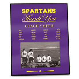 Softball Photo Frame Thank You Coach Roster