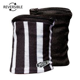 WristSTASH LITE Reversible Wrist Wallet- Zebra
