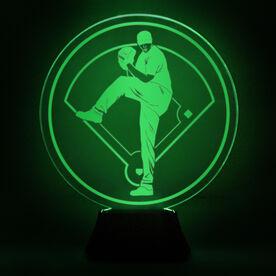Baseball Acrylic LED Lamp Pitcher