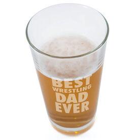 20 oz. Beer Pint Glass Best Wrestling Dad Ever