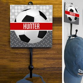 Soccer Hook Personalized 2 Tier Patterns with Soccer Ball