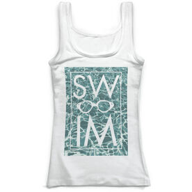 Swimming Vintage Fitted Tank Top - Summer Days