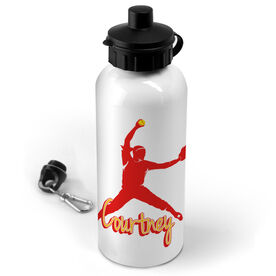 Softball 20 oz. Stainless Steel Water Bottle Personalized Softball Pitcher