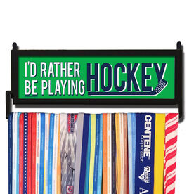 AthletesWALL Rather Be Playing Hockey Medal Display