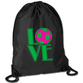 Soccer Sport Pack Cinch Sack Love Soccer