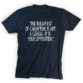 Sport Tshirt Short Sleeve Breakfast of Champions