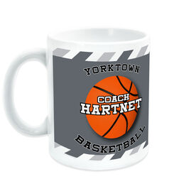Basketball Ceramic Mug Personalized Coach with Ball