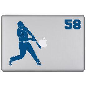 Baseball Personalized Batter Removable ChalkTalkSPORTSGraphix Laptop Decal
