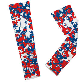 Rugby Printed Arm Sleeves Digital Camo with Female Rugby Player