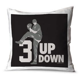 Baseball Throw Pillow 3 Up 3 Down