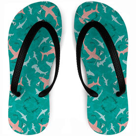 Guys Lacrosse Flip Flops Shark Infested Waters