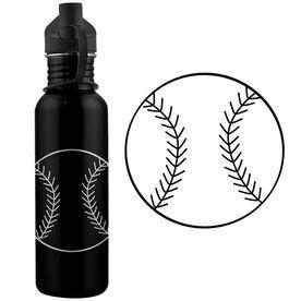 Baseball Ball 24 oz Stainless Steel Water Bottle